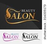 beauty salon logo design with... | Shutterstock .eps vector #316335173