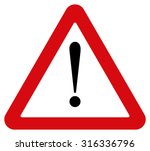 attention sign | Shutterstock .eps vector #316336796