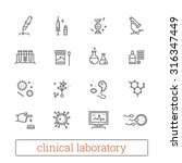 clinical laboratory thin line... | Shutterstock .eps vector #316347449