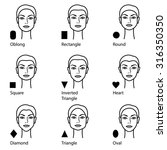 forms of a female face | Shutterstock .eps vector #316350350