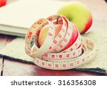measuring tape wrapped around a