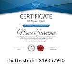 vector certificate template. | Shutterstock .eps vector #316357940
