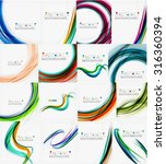 set of colorful flowing motion... | Shutterstock .eps vector #316360394