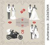 set of vintage vector elements  ... | Shutterstock .eps vector #316365644