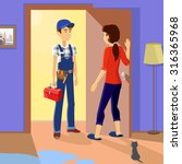 housewife meets master... | Shutterstock .eps vector #316365968