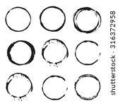 set of vector black wine stain... | Shutterstock .eps vector #316372958
