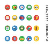 electronics vector icons 2  | Shutterstock .eps vector #316374569