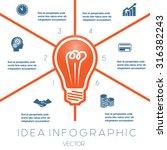light bulb infographics...   Shutterstock .eps vector #316382243