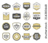 set of vintage stickers for... | Shutterstock .eps vector #316383668