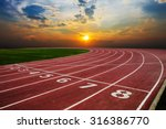 Athlete Track Or Running Track...