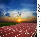 athlete track or running track... | Shutterstock . vector #316386803