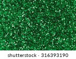 Green Glitter Background.