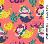 mermaid baby background   Shutterstock .eps vector #316395548