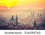Cityscape Of Prague At The...