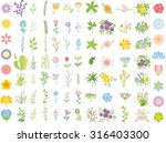 set of wedding graphic set ... | Shutterstock .eps vector #316403300