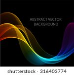 abstract colorful waves. the... | Shutterstock .eps vector #316403774