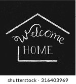 """hand drawn lettering """"welcome... 