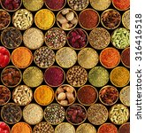 Different Spices On Black...