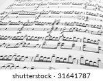 fragment of the musical score ...   Shutterstock . vector #31641787