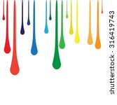 dripping paint background... | Shutterstock .eps vector #316419743