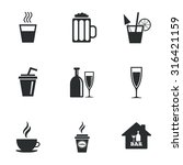 cocktail  beer icons. coffee... | Shutterstock .eps vector #316421159