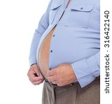 senior man with big fat stomach.... | Shutterstock . vector #316422140