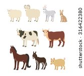 vector cartoon animals  sheep... | Shutterstock .eps vector #316422380