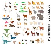 big set of cartoon animals ... | Shutterstock .eps vector #316422398