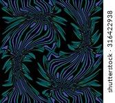 abstract flower floral dark... | Shutterstock . vector #316422938