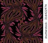 abstract flower floral dark... | Shutterstock . vector #316422974