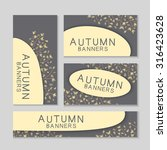 abstract autumn banners with... | Shutterstock .eps vector #316423628
