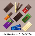 chocolate bars icons in flat...   Shutterstock .eps vector #316424234