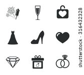 wedding  engagement icons.... | Shutterstock .eps vector #316432328