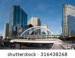 public skywalk located above an ... | Shutterstock . vector #316438268