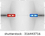 magnetic lines of force | Shutterstock .eps vector #316443716