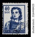 romania   circa 1955  a stamp... | Shutterstock . vector #316448423