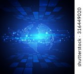 futuristic world network... | Shutterstock .eps vector #316449020