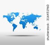 map of world | Shutterstock .eps vector #316451960