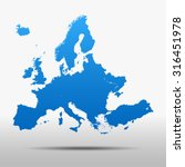 map of europe | Shutterstock .eps vector #316451978