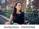 outdoor shot of happy young... | Shutterstock . vector #316452566