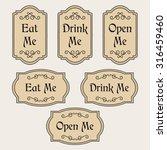 vintage set with labels eat me  ... | Shutterstock . vector #316459460