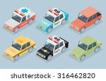 set of the isometric cars | Shutterstock .eps vector #316462820