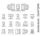 set of black line vector icons... | Shutterstock .eps vector #316471898