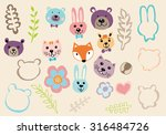 animal cartoon with nature | Shutterstock .eps vector #316484726
