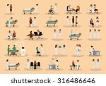 medical staff and patients...   Shutterstock .eps vector #316486646