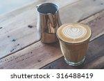 coffee latte art | Shutterstock . vector #316488419