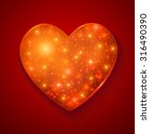 shining heart. vector... | Shutterstock .eps vector #316490390