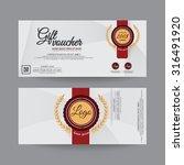 gift voucher premier color   Shutterstock .eps vector #316491920