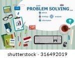 problem solving and flat design ...   Shutterstock .eps vector #316492019