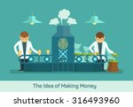 business conveyor design... | Shutterstock .eps vector #316493960